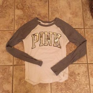 VS PINK long sleeve top with bling